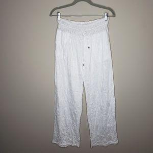Beach Inc Elastic Waist Swim Cover Up Pants Small